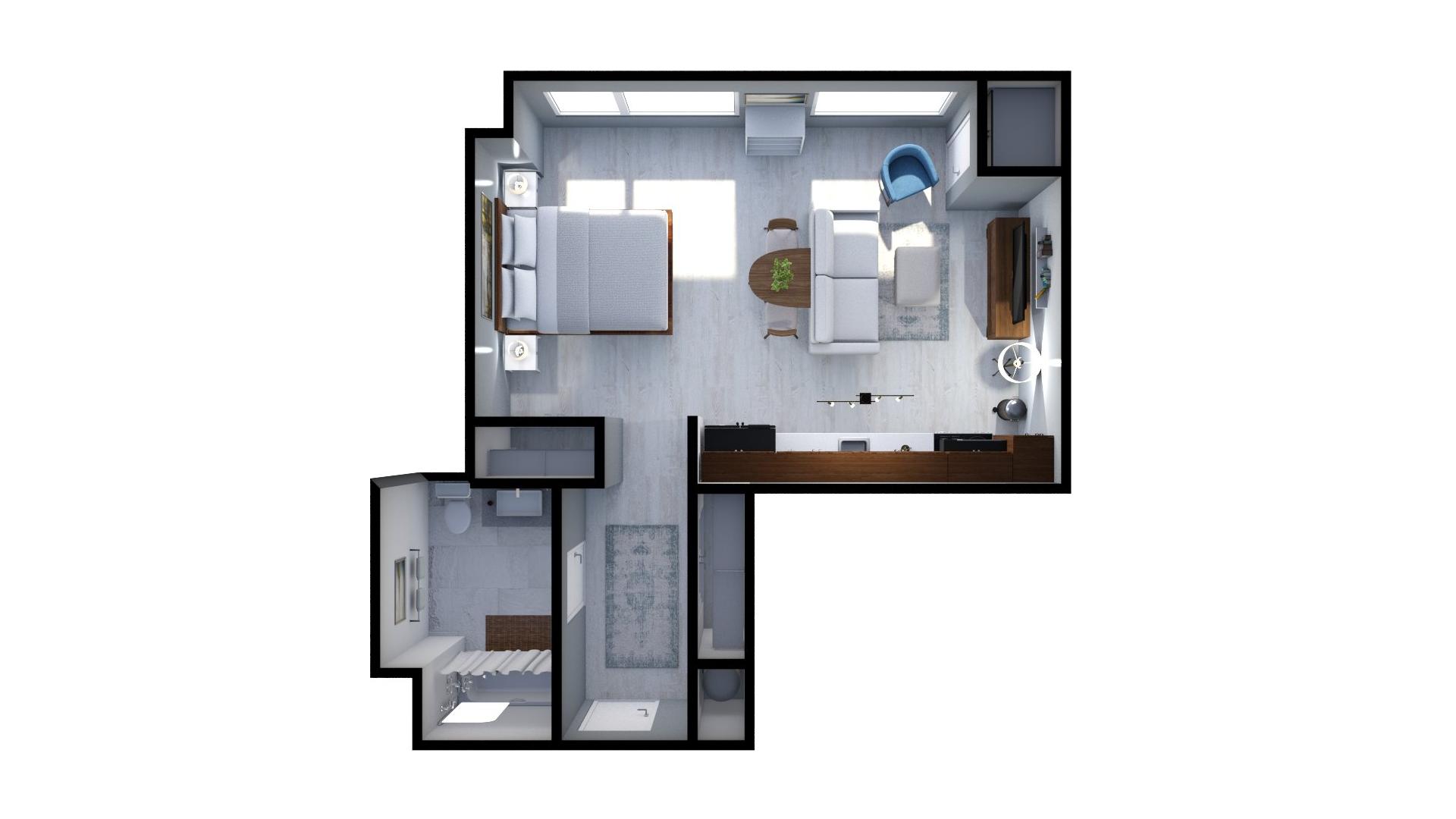 Floor plan rendering: The Alexander