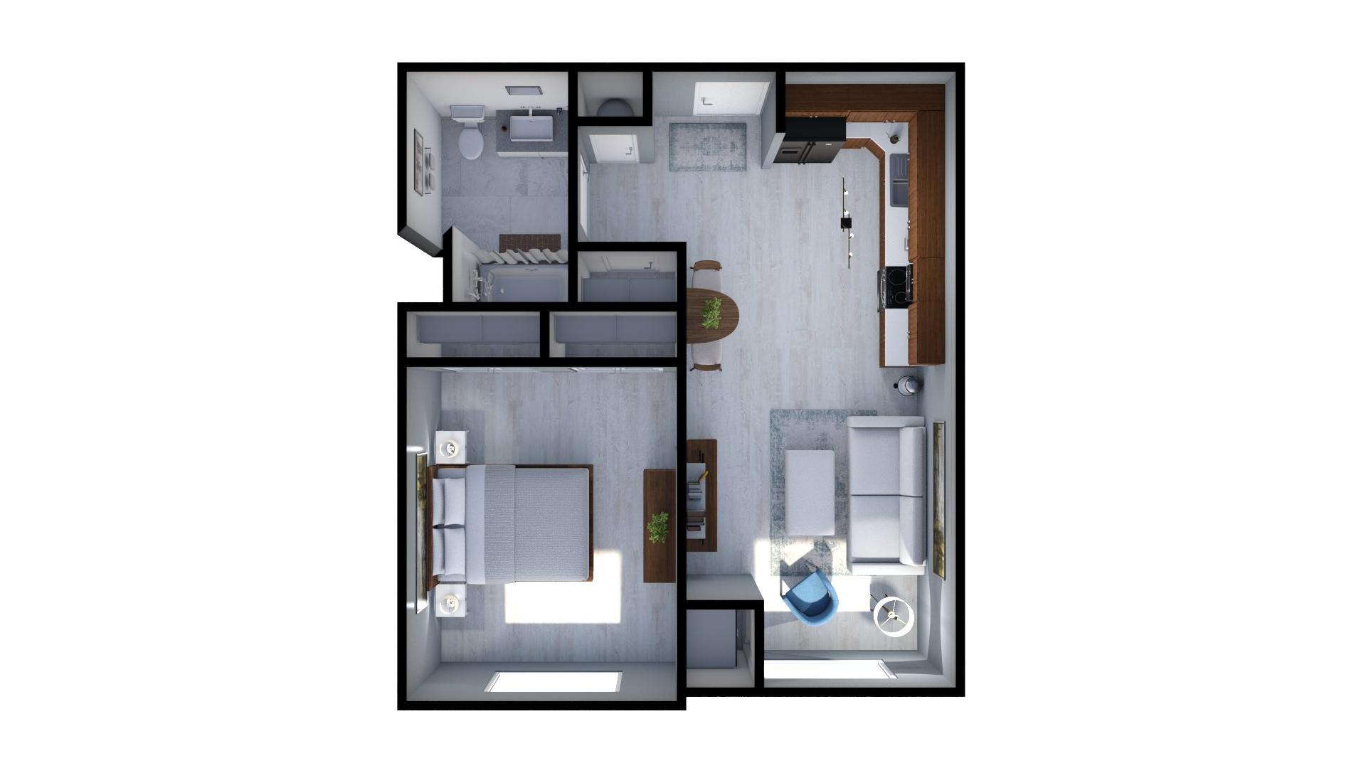 Floor plan rendering: The Eldridge