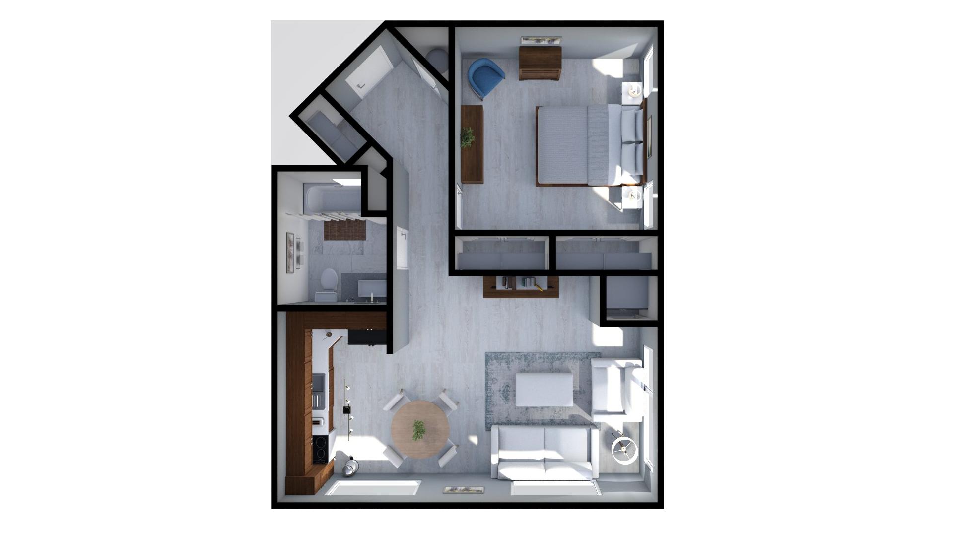 Floor plan rendering: The Melissa