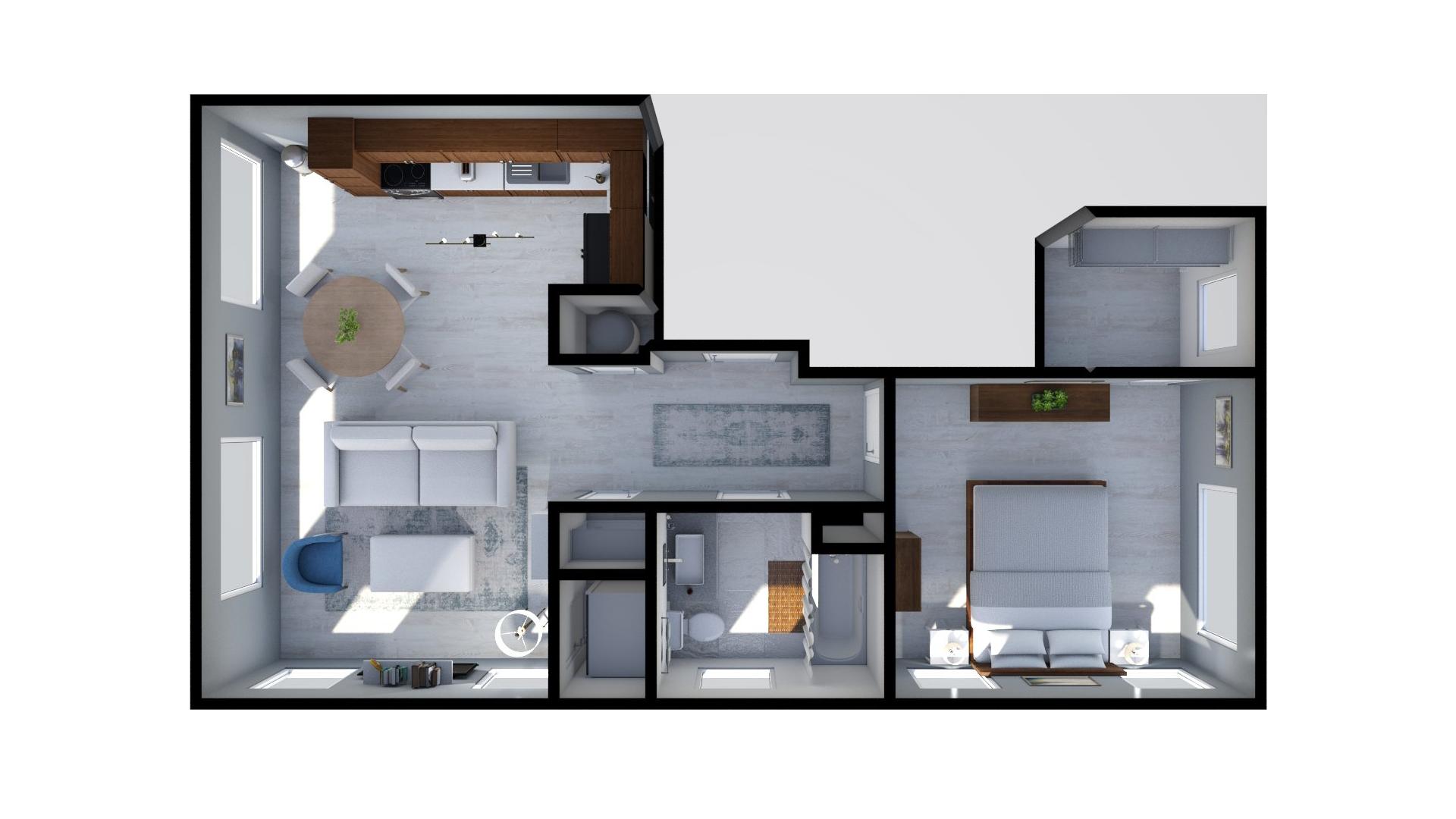 Floor plan rendering: The Tristan