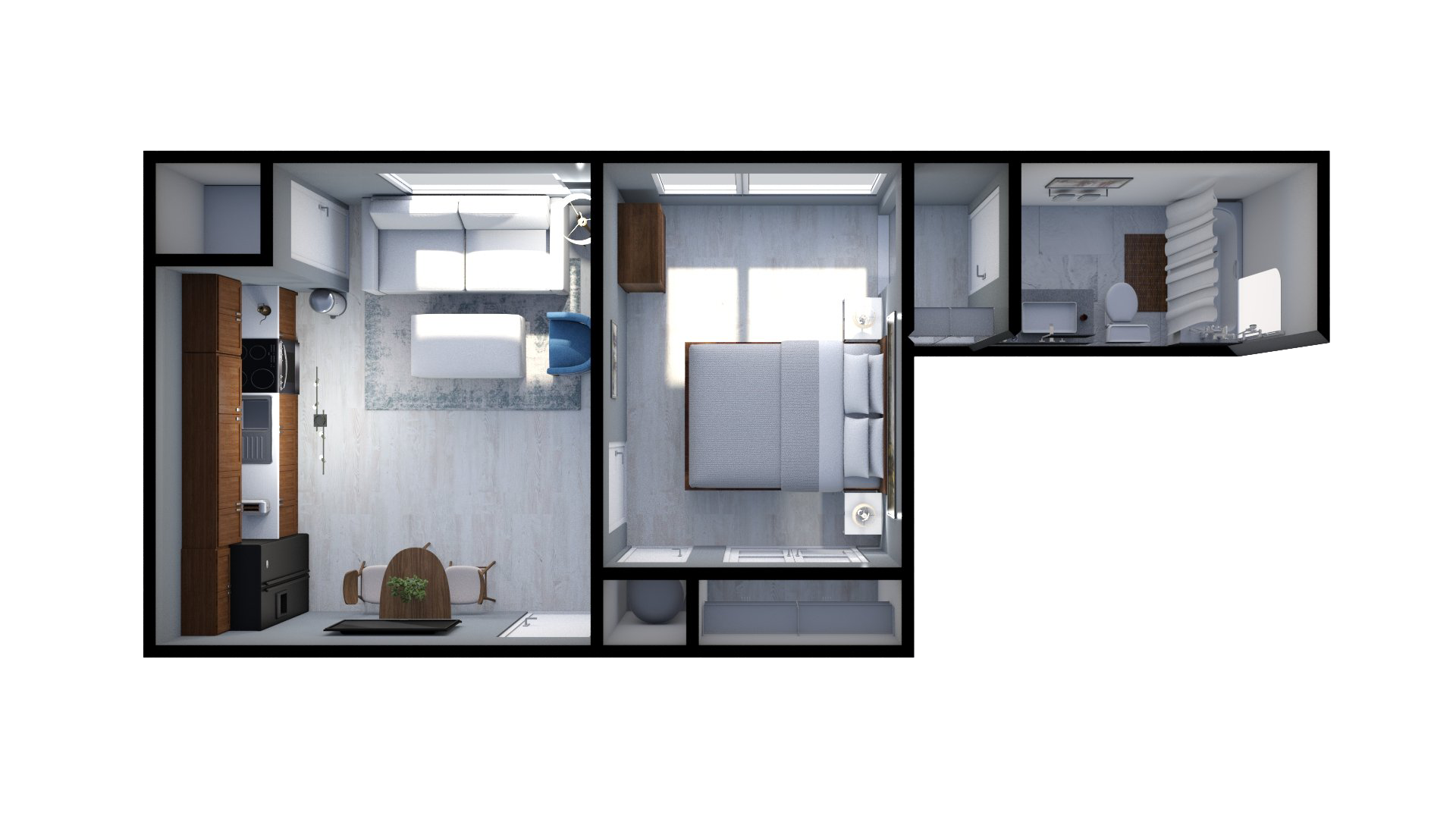 Floor plan rendering: The Brookelyn